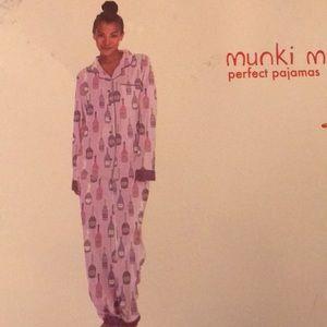 Munki Munki flannel classic PJ set size S NWT ac1b7b8bd